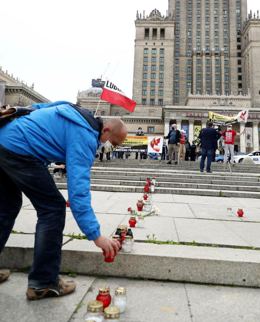 Kolejny strajk przedsiębiorców w Warszawie