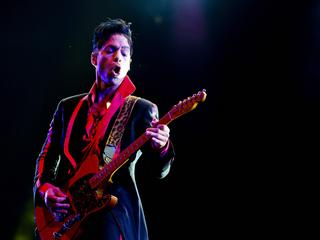 Prince performing live in Abu Dhabi, United Arab Emirates