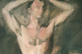 Rivers_O'Hara Nude with Boots_1954_oil on canvas_97 x 53 inches_L72dpi