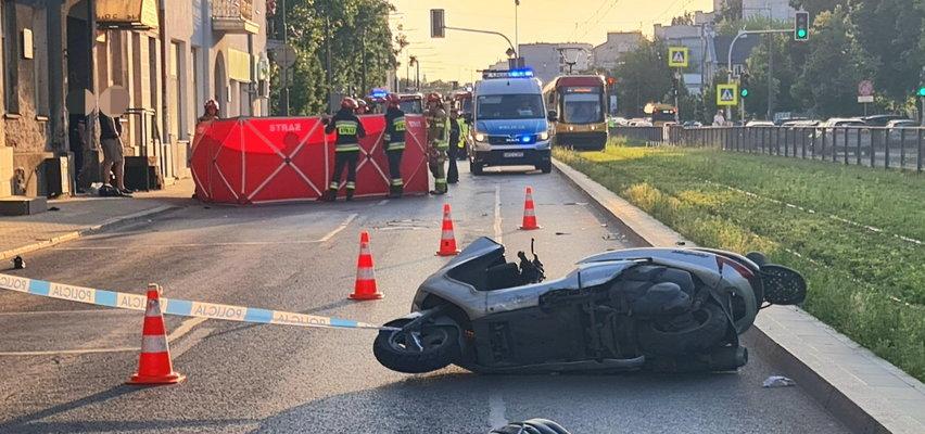 Tragiczny wypadek w Warszawie. Kierowca uciekł z miejsca zdarzenia. Szuka go pies tropiący!