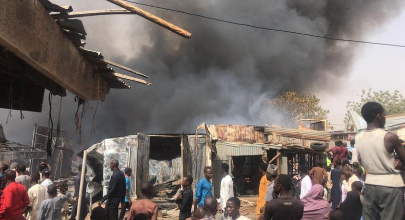 Fire destroys shops, property worth billions of Naira at Katsina Central Market. [The Nation]