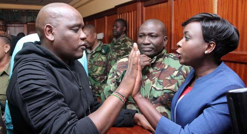 Itumbi and Maribe in court (Courtesy)