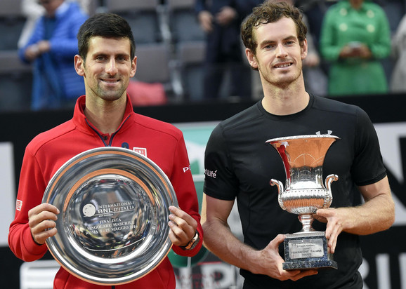 Vicešampion i šampion posle finala Madrida 2016: Novak Đoković i Endi Marej