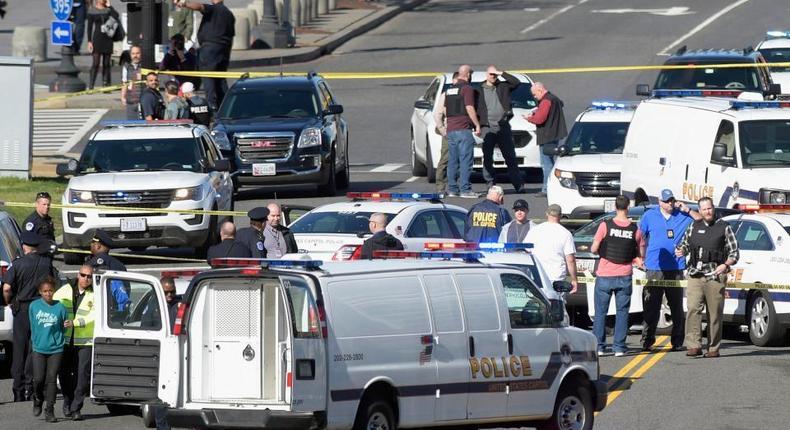 Police reports that gunshots were heard near Capitol Hill