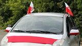 Flagi na samochodach nielegalne?