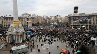 Napięta sytuacja w Kijowie: Zamieszki podczas prounijnej demonstracji