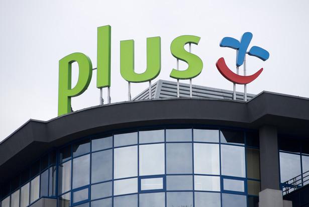 Znak Plus GSM należący do Polkomtela