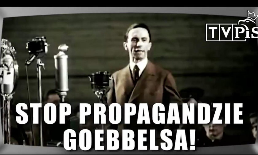Joseph Goebbels pojawił się w nowym spocie PO