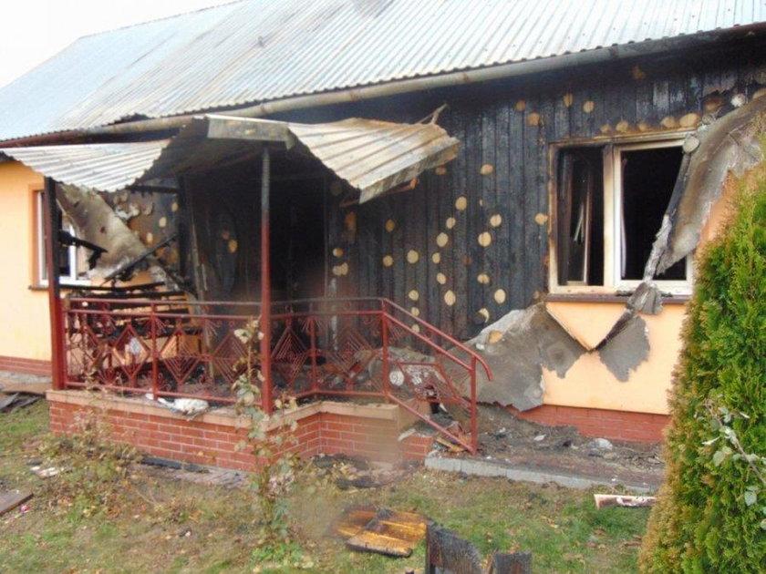 Pożar w Łopuszce Wielkiej