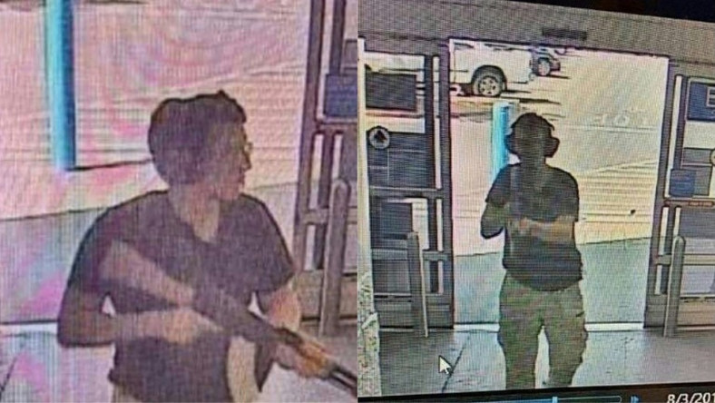 This CCTV image courtesy of KTSM 9 News Channel, shows the gunman identified as Patrick Crusius, 21, entering the Cielo Vista Walmart store in El Paso on August 3