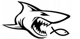 Rekin pożera ichthysa. Co oznacza nowa naklejka na autach?