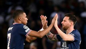 Kylian Mbappe and Lionel Messi led PSG to victory against RB Leipzig in the Champions League in midweek Creator: FRANCK FIFE