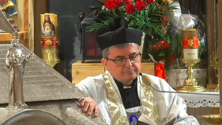 Suspendowany ksiądz Piotr Natanek (Youtube/Ahael)