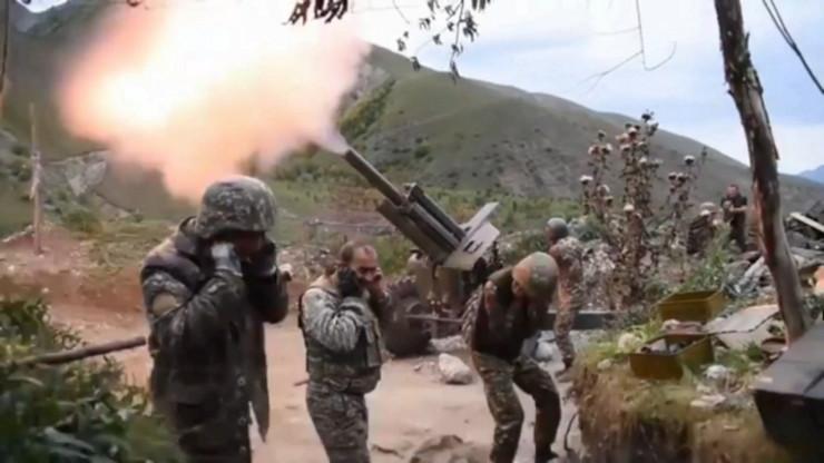 Jermenijski vojnici tokom sukoba sa azerbejdžanskom armijom u Nagorno-Karabahu