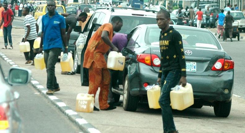 Motorists buying petrol from black market sellers during time of scarcity. (Photo used for illustration)