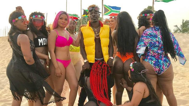 "Shatta Wale behind-the-scenes of ""Island"" music video"