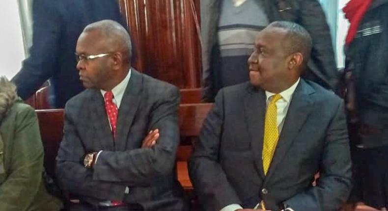 CS Henry Rotich and PS Kamau Thugge chatted until 2 am while at Muthaiga Police Station - police source tells reporters