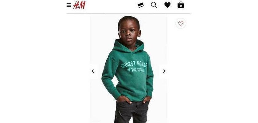 """Sklep H&M zdemolowany. To przez bluzę """"Coolest monkey in the jungle"""""""