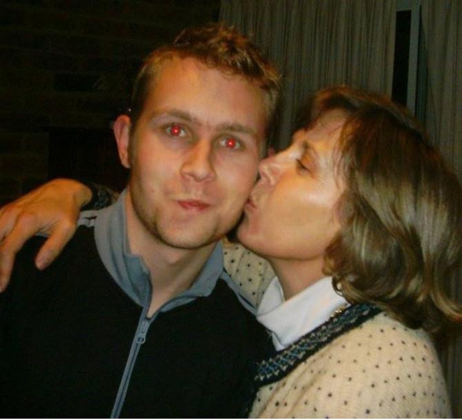 Džejk Hit sa majkom
