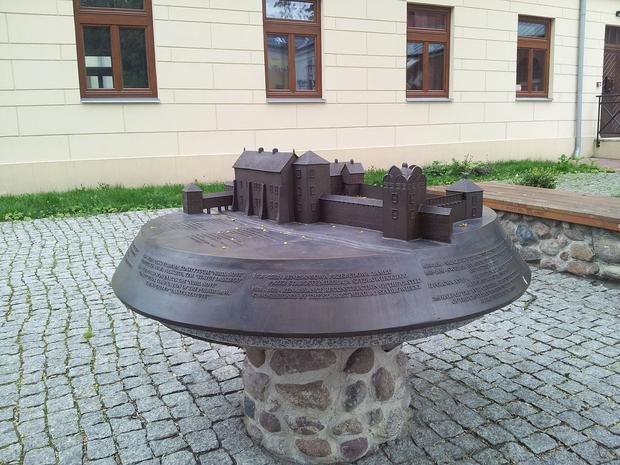 Model zamku królewskiego w Radomiu w XVII w.