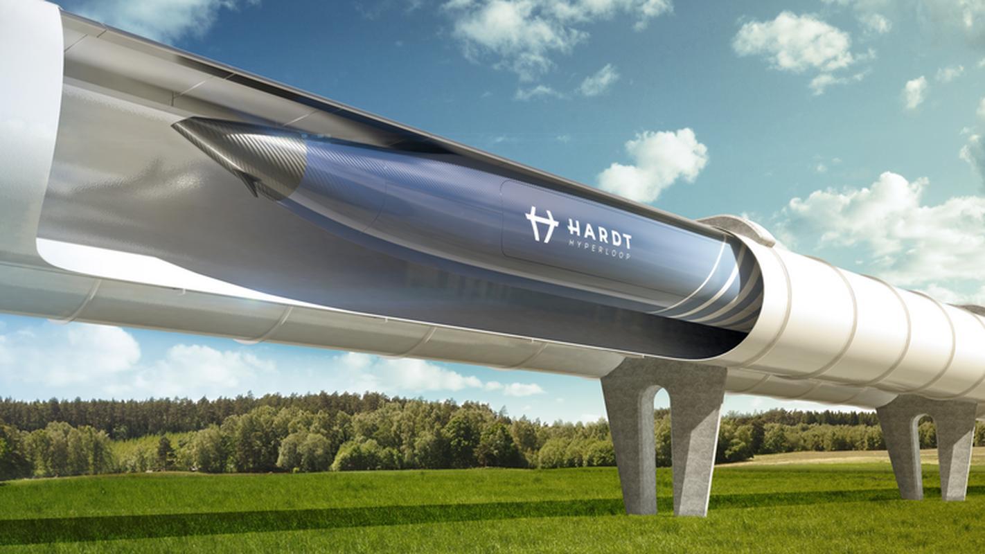 """Wizualizacja ultraszybkiej """"kolei"""", nad którą pracuje holenderski Hardt Hyperloop"""