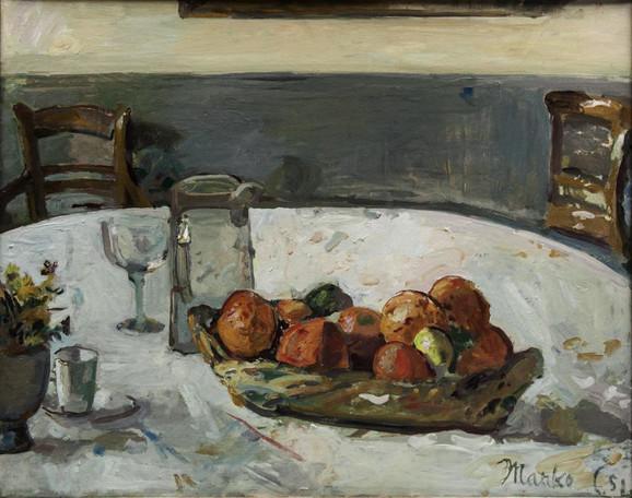 Marko Čelebonović, Mrtva priroda s narandzama, 1951, 73x92c