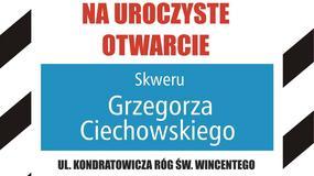 Skwer Grzegorza Ciechowskiego – uroczystość nadania imienia