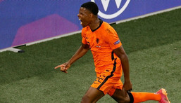Denzel Dumfries has been involved in all five goals the Netherlands have scored so far at Euro 2020, netting two himself Creator: Koen van Weel