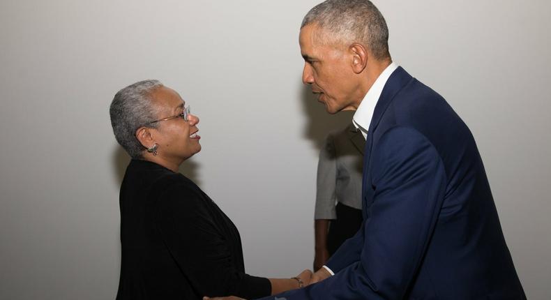 Obama applauds First Lady Margaret Kenyatta on a world stage