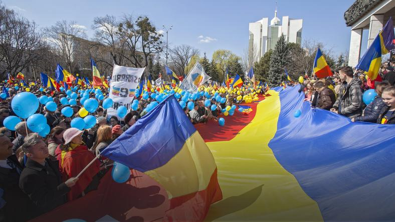 MOLDOVA UNIFICATION RALLY (Moldova and Romania unification anniversary)