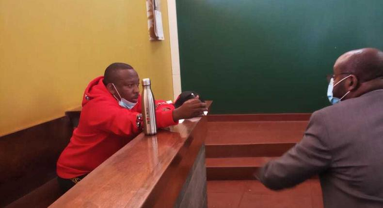 Former Nairobi Governor Mike Sonko during a court appearance on February 3, 2021