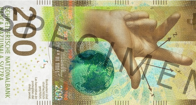 Švajcarska novčanica, 200 franaka