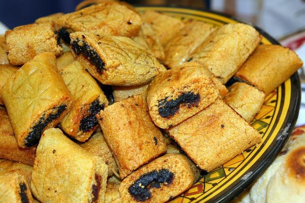 Makhroude - ciasteczka faszerowane daktylami