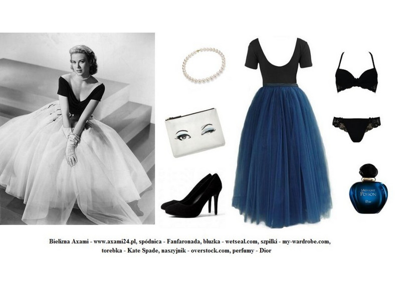 Walentynkowe sylizacje retro - Grace Kelly