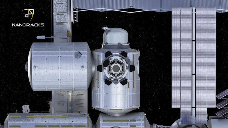 ISS z komercyjną śluzą powietrzną