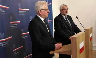 Waszczykowski przekazał obowiązki nowemu szefowi MSZ. W przyszłym tygodniu wizyty