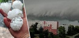 Pogodowy armagedon w Polsce. Spadł grad wielkości piłek tenisowych ZDJĘCIA