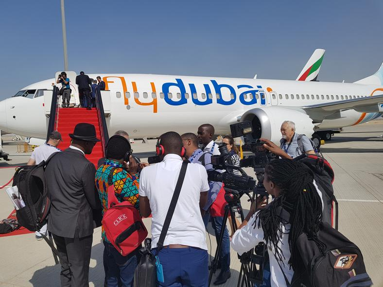 African Journalists at the Dubai Airshow 2017