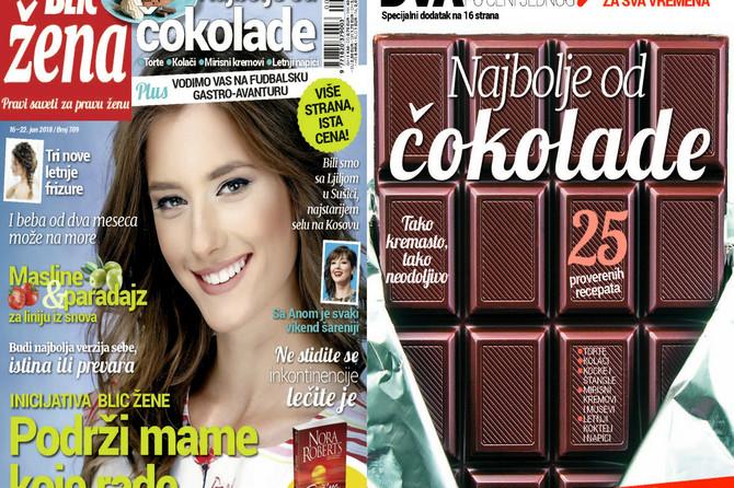 """Dva magazina po ceni jednog: U novoj """"Blic ženi"""" čekaju vas najlepši recepti s čokoladom"""