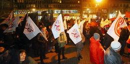 Protest przeciwko reformie edukacji w Pasażu Schillera