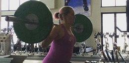 Rywalka Kowalczyk szokuje. W 6. miesiącu ciąży dźwiga ciężary