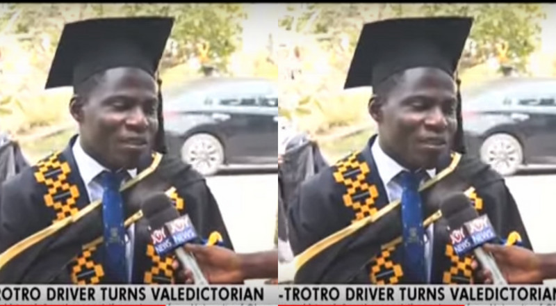 Brilliant Trotro driver graduates with First Class from the University of Ghana (video)