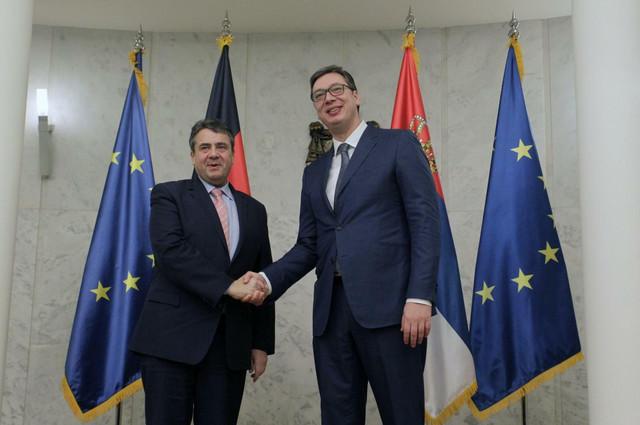 Zigmar Gabrijel i Aleksandar Vučić