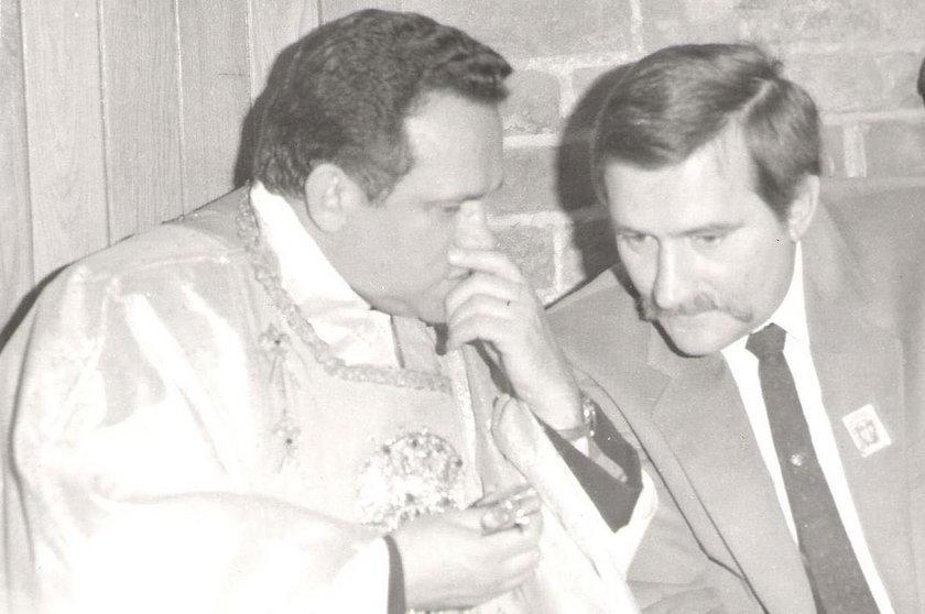 Henryk Jankowski i Lech Wałęsa