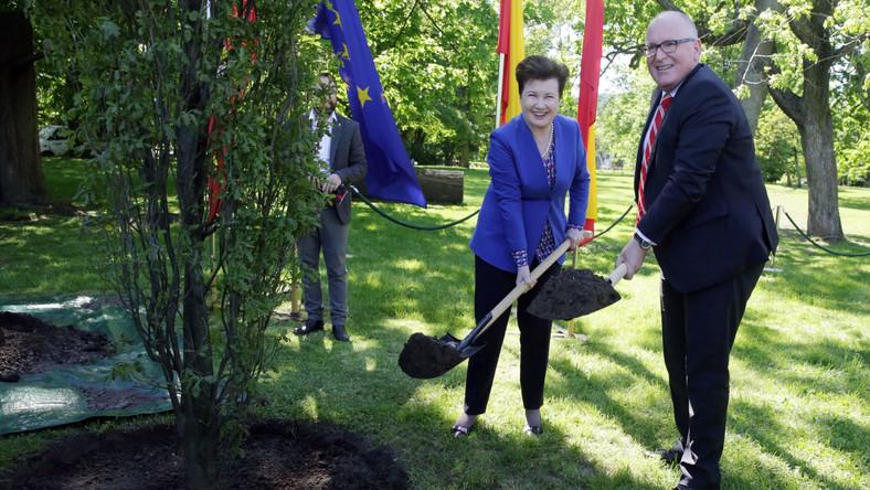 """Hanna Gronkiewicz-Waltz podkreśliła, że w tym roku przypada 60-lecie przyjęcia Traktatów Rzymskich, które są """"fundamentem Europy solidarnej, bezpiecznej i praworządnej"""". """"Polska jest częścią rodziny europejskiej i dzięki Unii nasz kraj rozwija się prężnie. Dowody na to są w wielu miejscach Warszawy i rola Komisji Europejskiej jako strażnika traktatów UE jest dla państw członkowskich takich jak Polska niezwykle ważna"""" - zaznaczyła."""