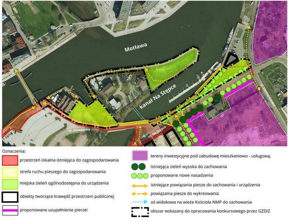 Gdańsk: ul. Na Stępce przy Motławie zmieni się w zielone bulwary