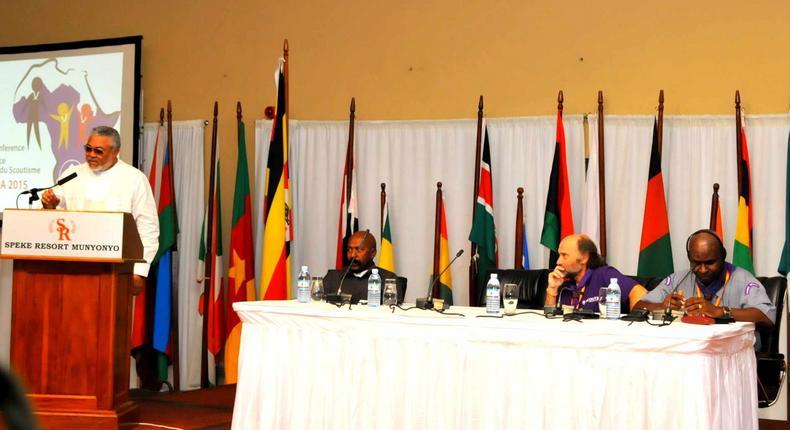 Ghana's former President, Flt Lt Jerry John Rawlings
