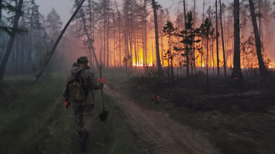 Jakucja - pożary