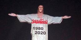 """Tak w Brazylii uczcili """"Solidarność"""". Niezwykła projekcja na pomniku Jezusa"""