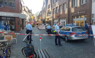 Samochód wjechał w tłum w Muenster. Media: Sprawca ataku to chory psychicznie Niemiec